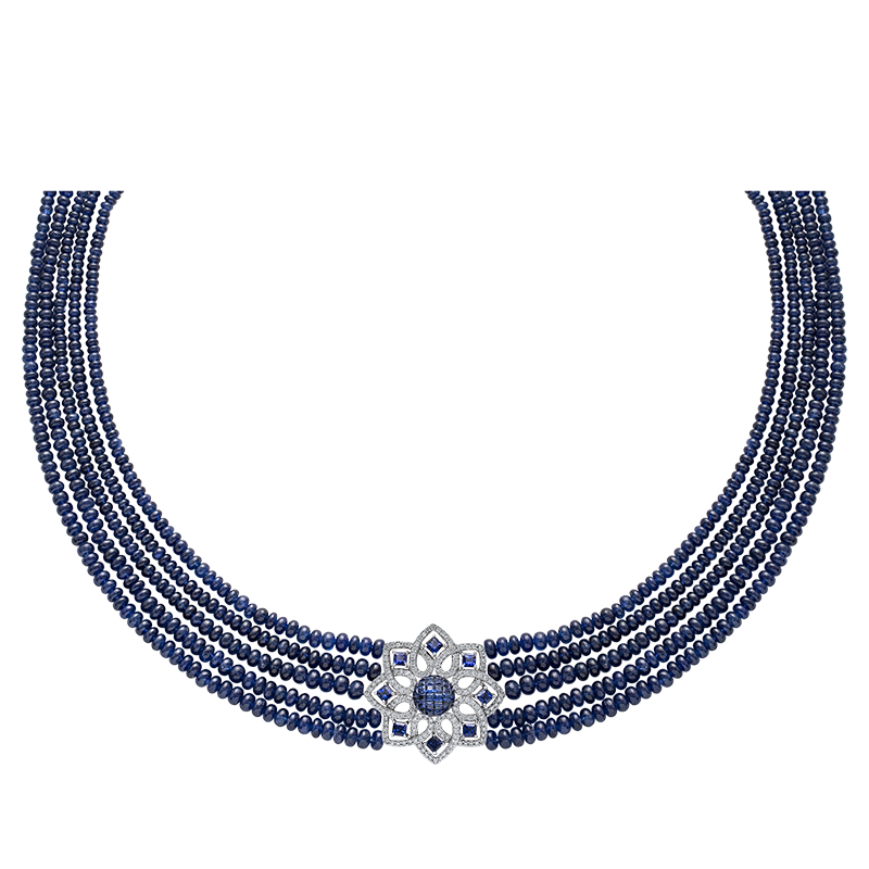Blue Sapphire Beed Necklace