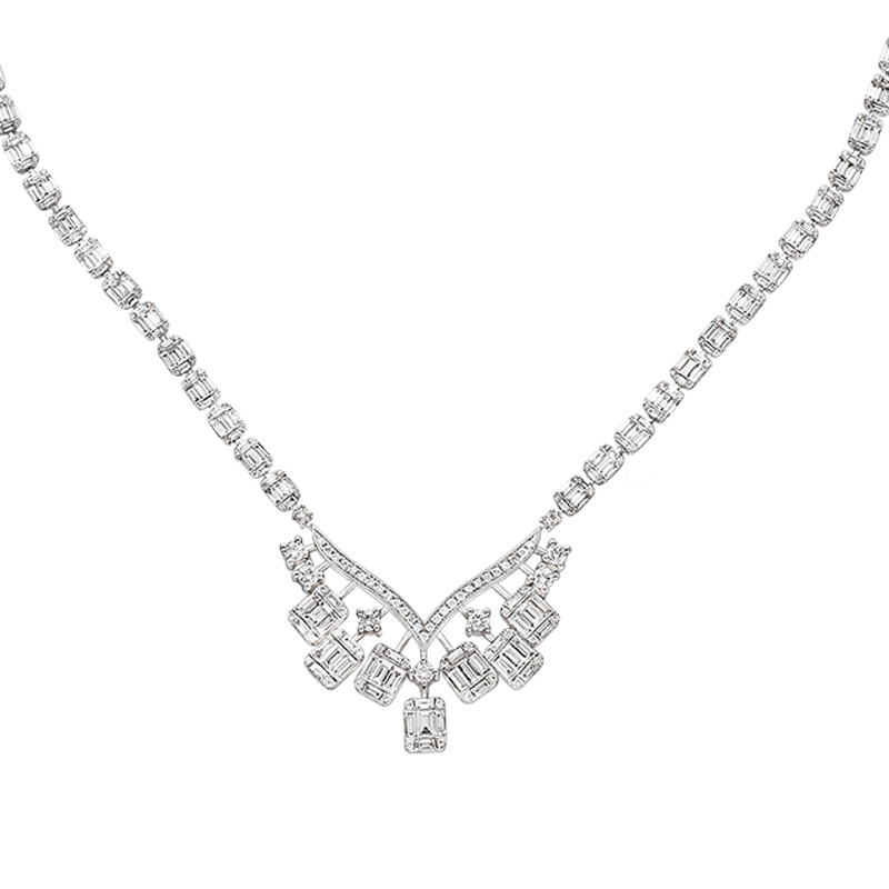 White Gold Diamond Necklace (SOLD)