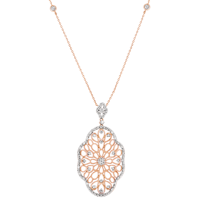 Intricately hand crafted Diamond Pendant